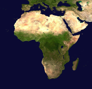 Every year hundreds of new millionaires are made in Nigeria. Aerial View, Africa Continent. Public Domain CC0