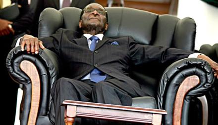 OBAMA SCARED OF ME, SAYS MUGABE